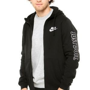 Nike Just Do It Full Zip Up Hooded Sweater